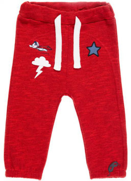 Babyhose mit Patchesmotiven in rot - NAME IT BABY JUNGEN
