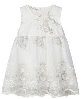 Kleid - Taufe - Festkleid in ivory - silber - name it - Taufe - Festmode