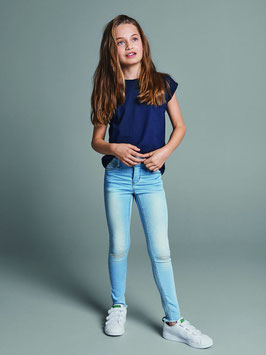 Hose - Jean - Jeans Legging - SUPER - STRETCH mit Zierriss am Knie - NAME IT KIDS MÄDCHEN