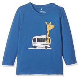 Babyshirt mit Giraffenmotiv blau