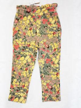 Hose - Blumenprint -  Sweathose - weich - oliv - Baggyschnitt - NAME IT MINI MÄDCHEN
