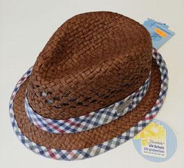 Kopfbedeckung - Sommer - Sonnenhut braun mit Baumwolle gefüttert -  UV - Schutz - Sterntaler