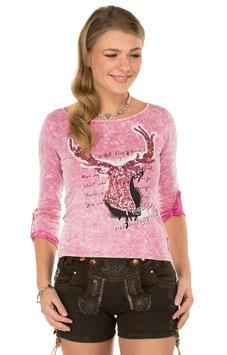 Shirt - Tracht - Marjo Trachten T-Shirt K91 HANNA pink