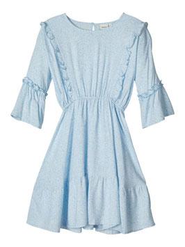 Kleid - Viskose Kleid gemustert hellblau - NAME IT KIDS MÄDCHEN