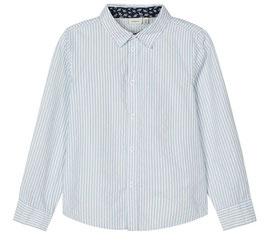 Hemd - hellblau - gestreift - langärmeliges Hemd - NAME IT  JUNGEN