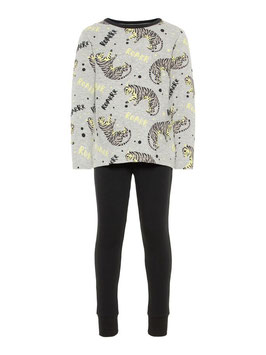 Nachtwäsche - Schalfanzug - Leuchtprint Nachtwäsche - NAME IT MINI JUNGEN