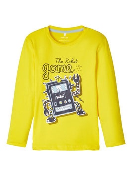 Shirt - Langarm Shirt gelb - NAME IT MINI JUNGEN