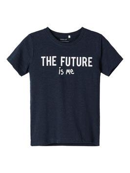 Shirt - Aktionsshirt marine the future - NAME IT MINI  MÄDCHEN