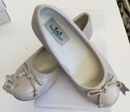 Schuhe - Ballerina BETH aus echtem Leder in silber - Festtagsschuhe