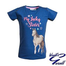 Shirt - Pferd - meine Glückssterne - indigo blue - Biobaumwolle
