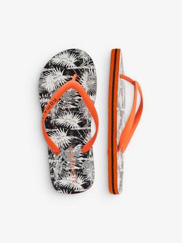 Schuhe - Flip Flop Palmen orange - schwarz - weiß - NAME IT KIDS JUNGEN