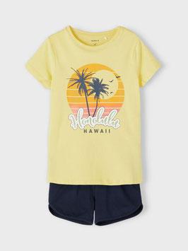 Sommerset inkl. Hose - Honolulu Hawai - Gelb/ schwarz - NAME IT KIDS MÄDCHEN