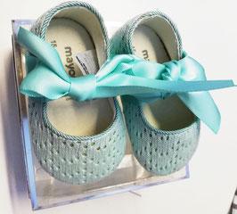 Schuhe - Babyschuhe mit Lochmuster in mint - Fa. Mayoral - Taufe - Festmode
