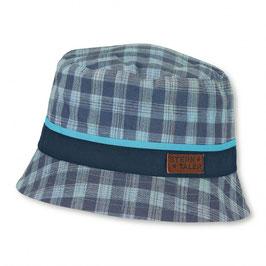 Kopfbedeckung - Sommer - karo marine/grün - UV Schutz 50 + - Sterntaler