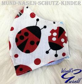 Mund-Nasen-Maske-Kinder - Käfer - Marienkäfer
