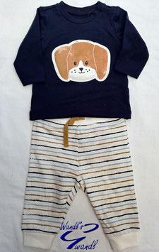 Shirt - Babyshirt mit Hundemotiv in dunkelblau - NAME IT BABY JUNGEN