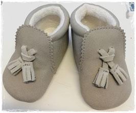Schuhe - Babyschuhe - Mokassin taupe - TAUFE - FESTMODE