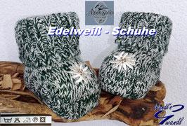 Socken - Trachtensockerl  grün mit Edelweiß - Babytrachten