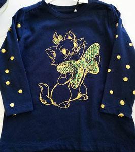 Tunika - Disney Tunika marine - Katze mit Masche - NAME IT MINI MÄDCHEN
