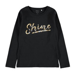 Shier - Shine - schwarz - Pailletten - Biobaumwolle - NAME IT KIDS GIRL