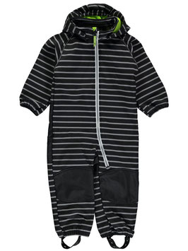 Sofshellanzug mit Streifen in grau-schwarz