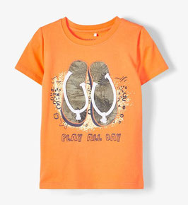 Shirt - kurzarm - Flip Flop - orange - NAME IT MINI JUNGEN