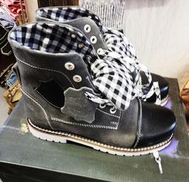 Schuhe - Trachtensneaker grau - schwarz - Kindertracht
