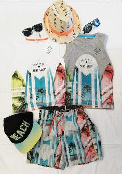 Shirt - ohne Arm - Top - Surf Shop Original - grau - NAME IT KIDS JUNGE