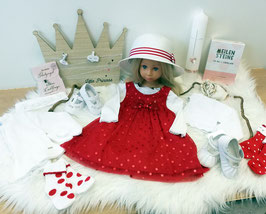 Kleid - Festkleid rot gepunktet - name it - TAUFE