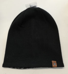 Kopfbedeckung - Mütze - Wendemütze Beanie - schwarz mit Seitenprint - NAME IT MINI JUNGEN