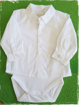 Baby - Body - Hemdenbody weiß - NAME IT BABY JUNGEN