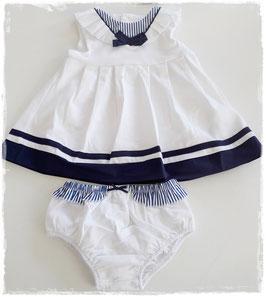 Kleid - Taufkleid - Matrosenkleid - ohne Arm - Taufe - Festmode