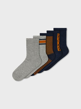 Socken - blau/grau - 5er Pack - Aktion - NAME IT KIDS JUNGEN