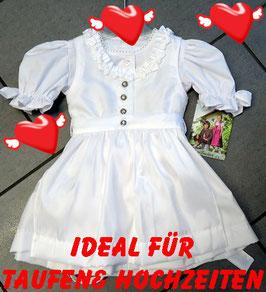 Festdirndl weiß - Tracht Mädchen