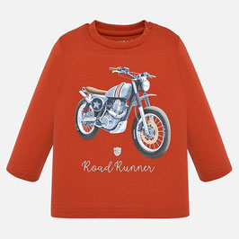 Shirt mit Motorrad in rost