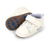 Schuhe - Babyschuhe - Lederschuh weiß mit Klettverschluß - super weich - Sterntaler - TAUFE - FESTMODE