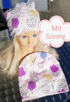 Kopfbedeckung - Mütze - Beanie - Sommermütze mit Farbwechsel in rosa