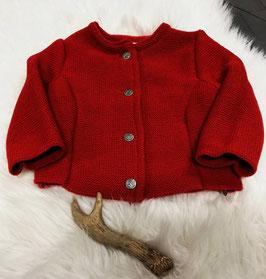 Tracht - Jacke - Trachten Strickjacke rot für Mädchen - Tracht Mädchen