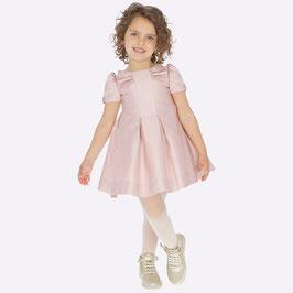 Kleid - mit Faltendetails und Puffärmel in rose - Mayoral - Festkleid