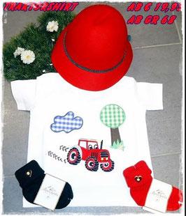 Tracht - Shirt - Trachtenshirt  mit Traktor - Kindertracht