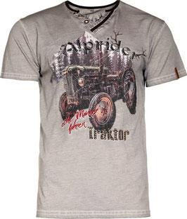 Shirt - Tracht - Traktorshirt in vintage grau - Herrenshirt - Alprider