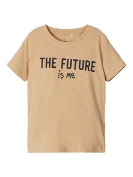 Shirt - Aktionsshirt natur - NAME IT MINI  MÄDCHEN