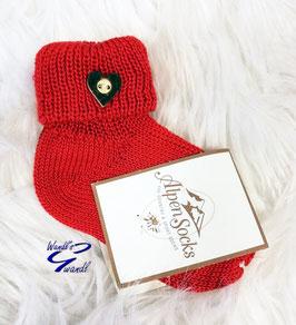 Socken - Trachten Socken rot - Baby - Kindertracht