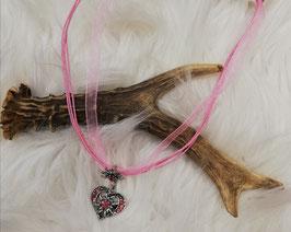 Trachtenkette mit rosa Band - Tracht Damen