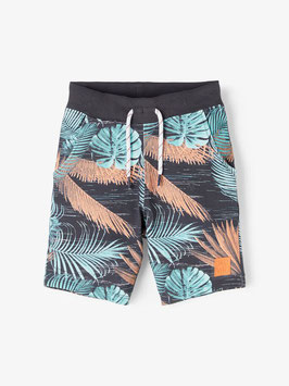 Short - aqua - orange - Sweat Palmenlook - NAME IT MINI JUNGE