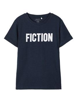 Shirt - Fiction - Besticktes Shirt  - marine - NAME IT  KIDS JUNGEN