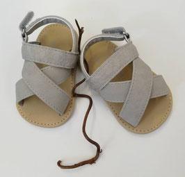 Schuhe - Babyschuhe - Sandale - Gr 15 - steingrau - Taufe