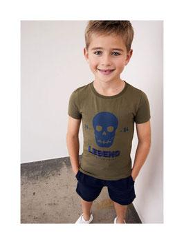 Shirt - kurzarm - kaki - FOREVER YOUNG - Biobaumwolle - NAME IT KIDS JUNGEN