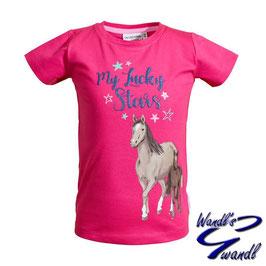 Shirt - Pferd - magenta - meine Glückssterne - Biobaumwolle