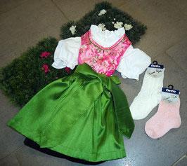 Babydirndl pink mit grün - Tracht Mädchen